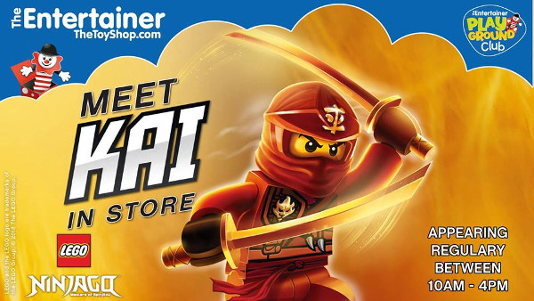 Meet Lego Ninjago's Kai at The Entertainer