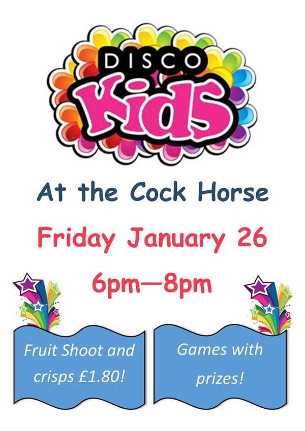 Kids Disco Hosted by The Cockhorse Pub Banbury