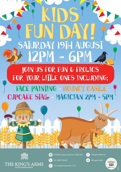 Kids Fun Day! Hosted by Kings Arms Hotel Bicester