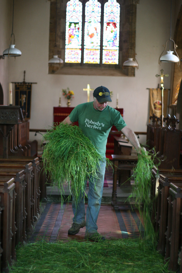 The grass-strewing always takes place prior to Whit Sunday (or Pentecost), which marks the festival of the Holy Trinity. The grass stays in place for a further three Sundays after Pentecost. Grass-strewing is thought to be less of a religious observation and more about giving the church a spring clean.
