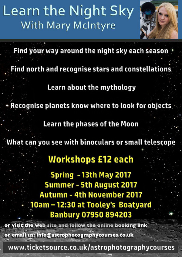 Learn the Night Sky – with Mary McIntyre.