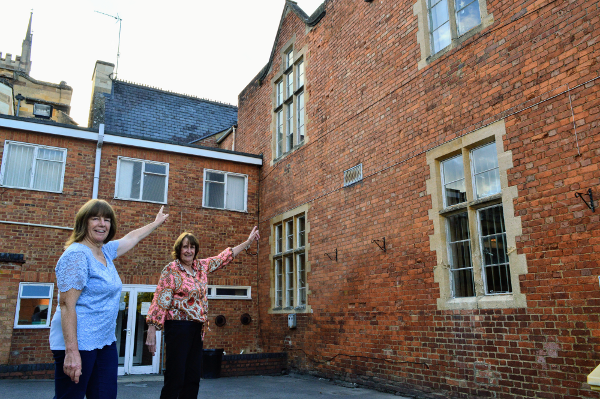 Pointing to the room upstairs where Maureen and Gillian both sat the 11+ exam.