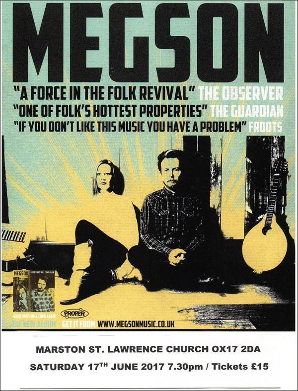 Megson - 'Generation Rent' Tour 2017 Megson - 'Generation Rent' Tour 2017 Hosted by Marston Concerts