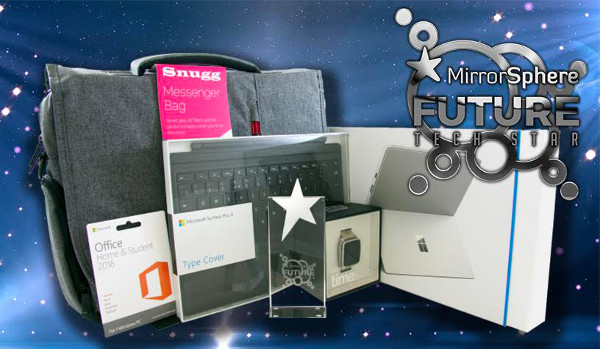 The winner will receive a £1,500 tech bundle and the awesome MirrorSphere Future Tech Star 2016 trophy!