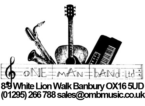 One Man Band is a Musical Instrument Shop based in 9 White Lion Shopping Walk, Banbury OX16 5UD