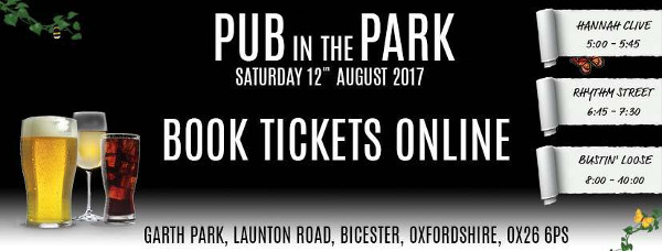 PUB in the PARK which will take place in Garth Park, Bicester, Oxfordshire