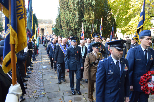 Procession marched to St Mary's Church, Banbury.