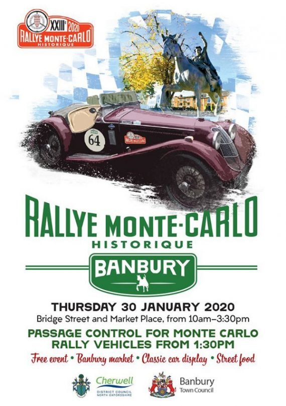 The world's most famous classic car rally will be returning to Banbury on Thursday 30 January.
