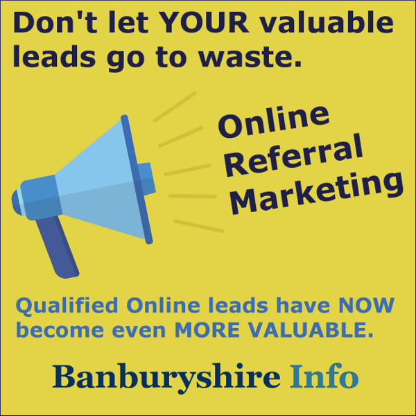 The Online referral advert with Banburyshire Info