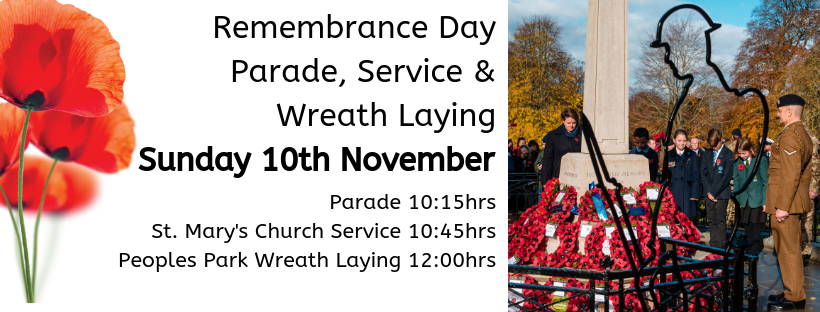 Remembrance Day Parade, Service & Wreath Laying.