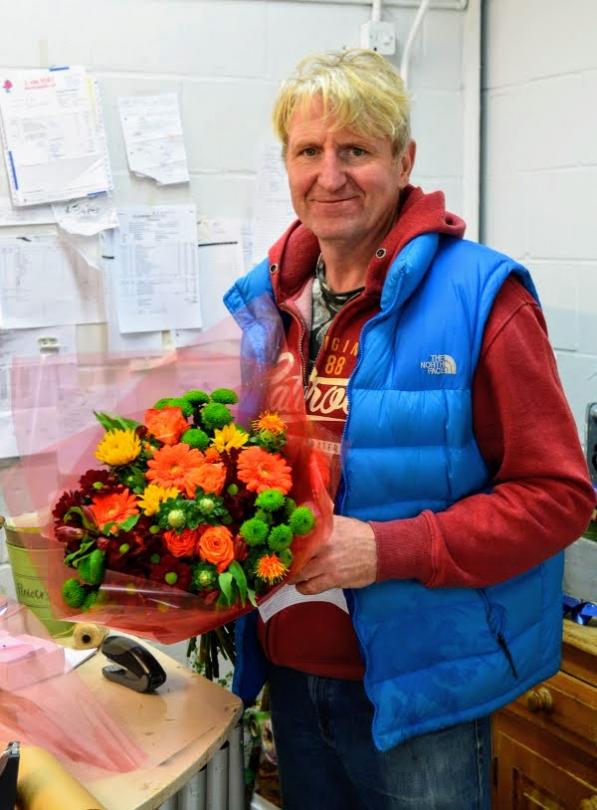 Sam the flowerman in Banbury