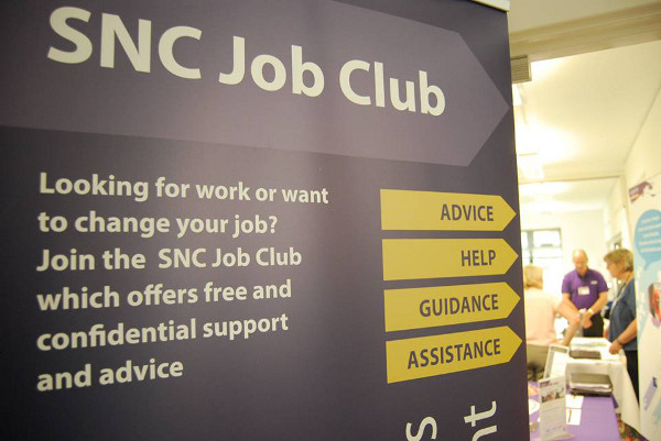 The Job Club offers free, confidential advice and support on a wide range of topics to help people find their way back into work, training or education.