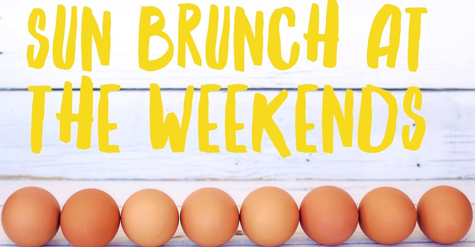 The Sun Inn serve 10am till noon on Saturday and Sunday for your perfect weekend addition.