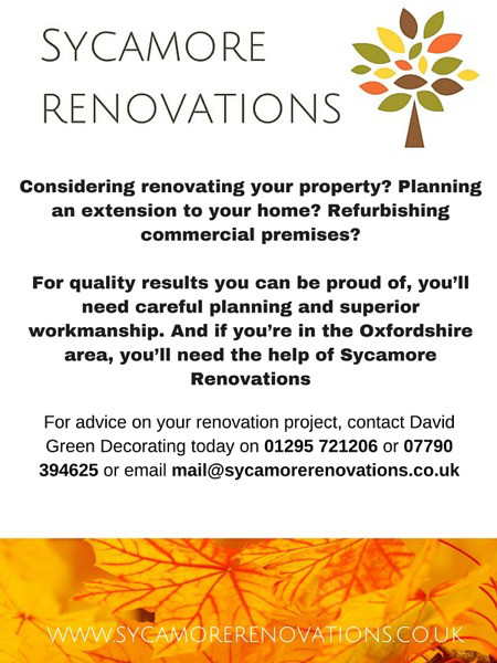 Sycamore Renovations are the one of the leaders in renovation projects In Oxfordshire.
