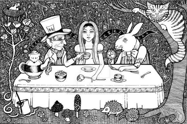 Tea Party. Mad Hatters tea party style