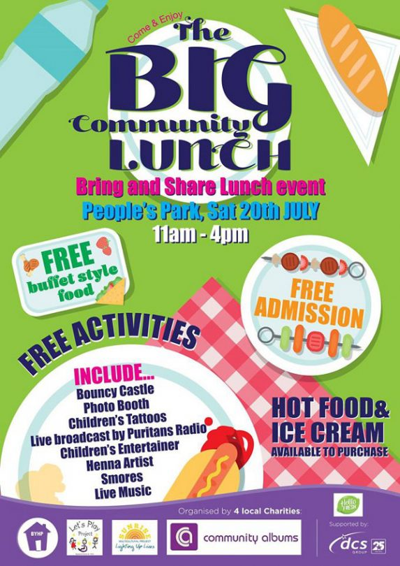 The Big Community Lunch have teamed up with three other local charities; Community Albums, Sunrise Multicultural Project and Let's Play.