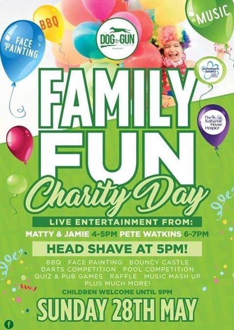 The Dog & Gun Family Fun Charity Day.