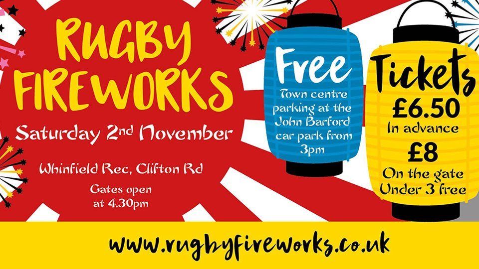 On 2nd November 2019 Rugby Round Table will host Rugby's 68th annual Firework Spectacular..