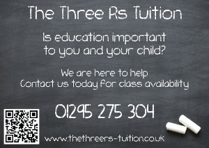 The Three Rs Tuition is based in Banbury delivering private tuition for 6 – 14 year old students.