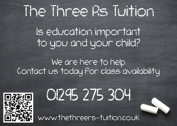 Three-Rs-Tuition provide affordable Private Tuition or 6 - 14 year olds in Banbury..