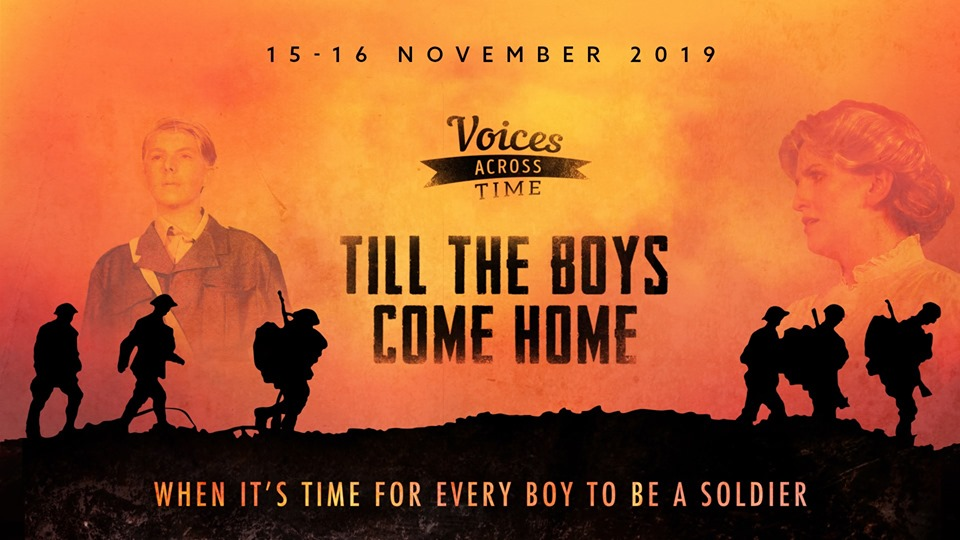 Join Voices Across Time for the reprise of their 2018 Remembrance Musical on the 15th and 16th November 2019.