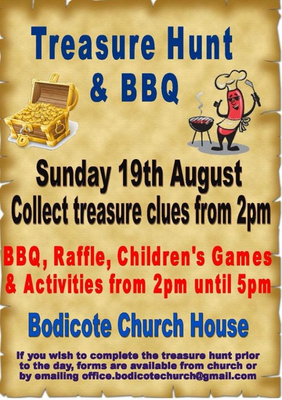 Treasure Hunt & BBQ at Bodicote Church House, Near Banbury, Oxfordshire