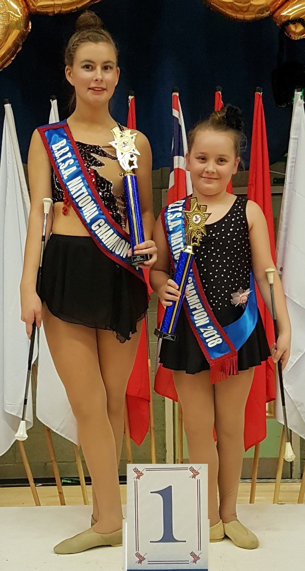 Two Banbury Cross Twirling Club members crowned national champions