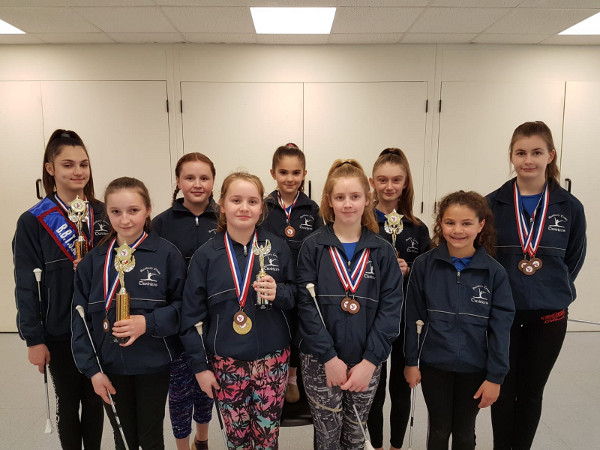 Champion Banbury twirlers bring home the trophies