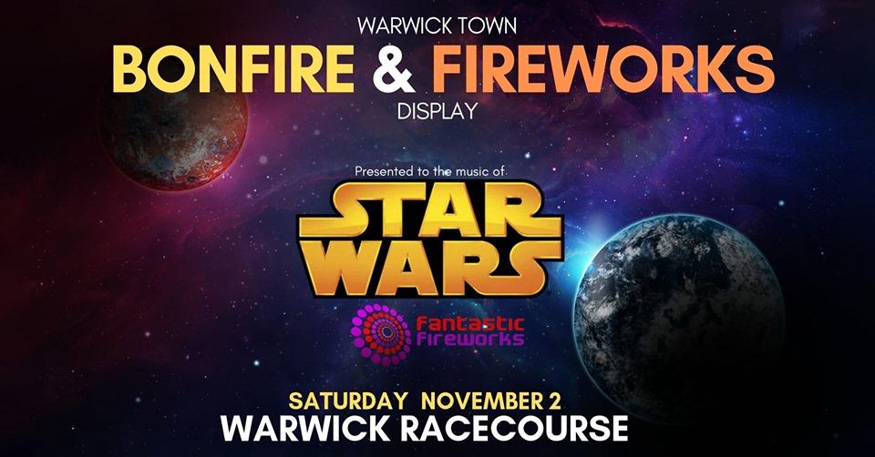 Warwick Town Bonfire and Firework Show.