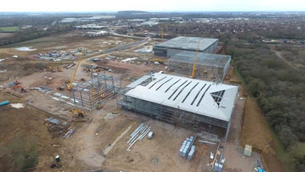 Major New Warehouse Development known as Link 9 takes shape in Bicester.