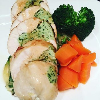 Bazil Stuffed Chicken Breast recipe from the The Supper Circle