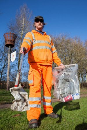 George Gilkes will visit dozens of community groups in north Oxfordshire this spring to deliver litter-picking equipment for the Great British Spring Clean.