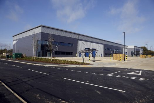 Newly completed industrial units in Bicester