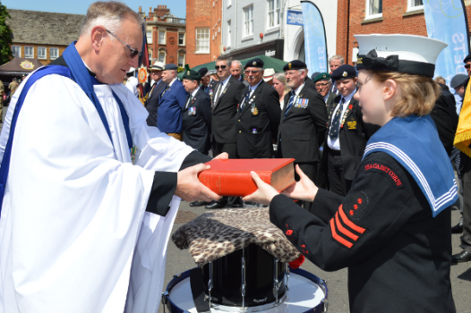 A drumhead service, conducted by Padre Charles Lewis, chaplain to the Thames Valley ATC