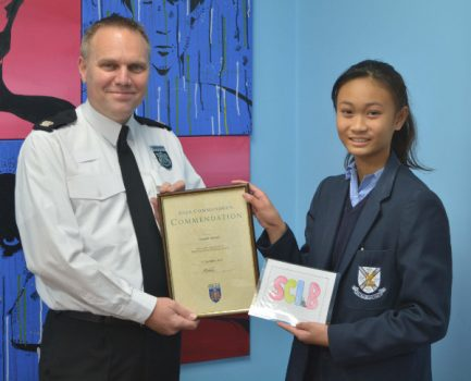 Ysabella Mistula presented with her award