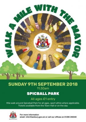 Mayor Shaida Hussain is urging people to go the extra mile at a charity event in Spiceball Park on Sunday 9 September.