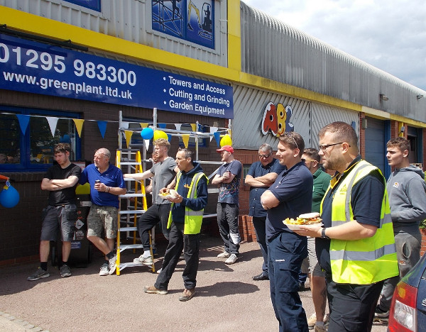 Greenplant Ltd welcomed around fifty tradespeople to its new depot at Unit 3, Wildmere Close, OX16 3TL, off Hennef Way.