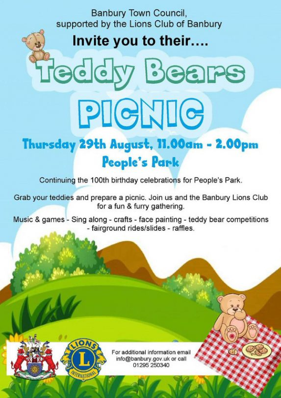 Teddy Bears Picnic set for People's Park, Banbury